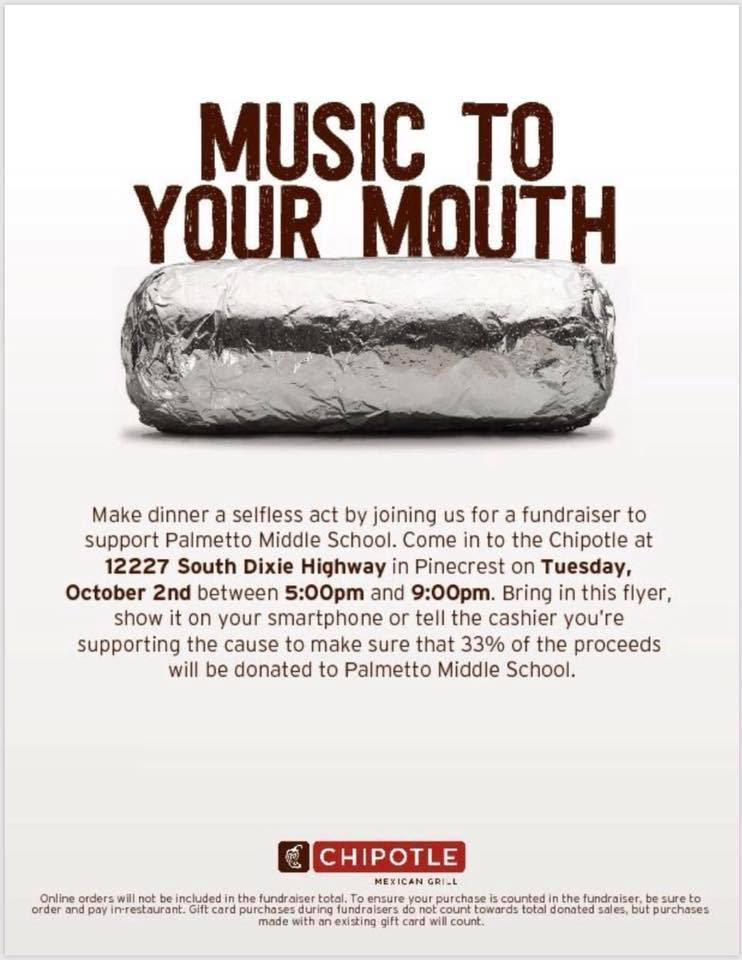 Chipotle Family Night Flyer