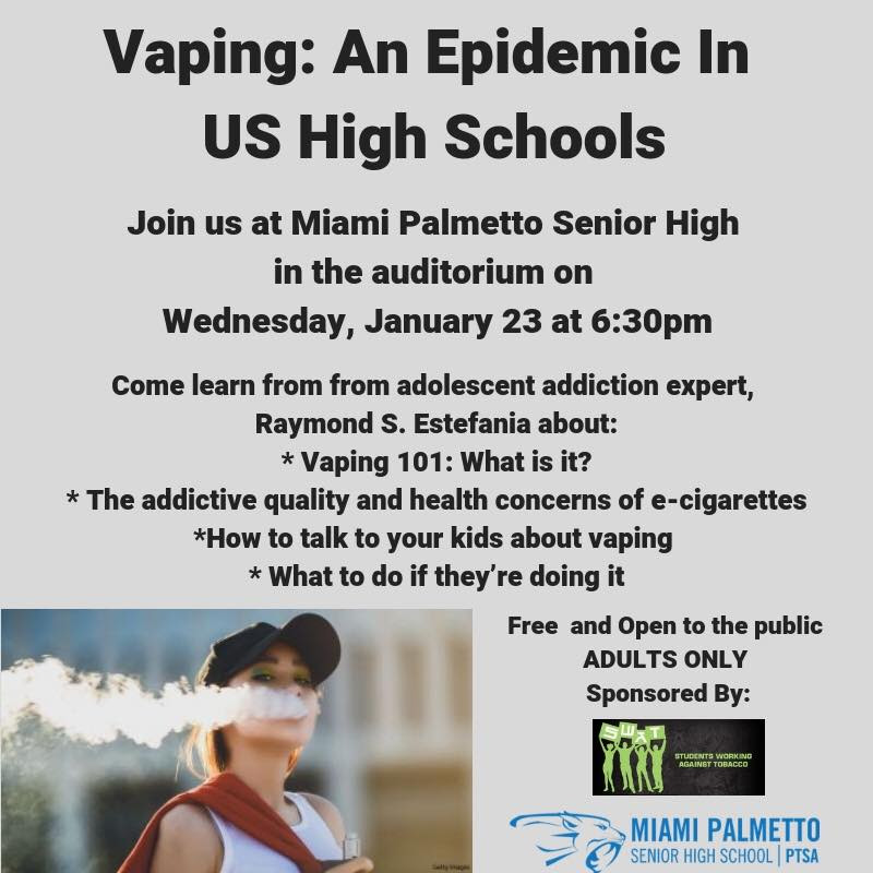 Vaping: An Epidemic in US High Schools Flyer