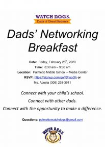 Dads Networking Breakfast @ Media Center