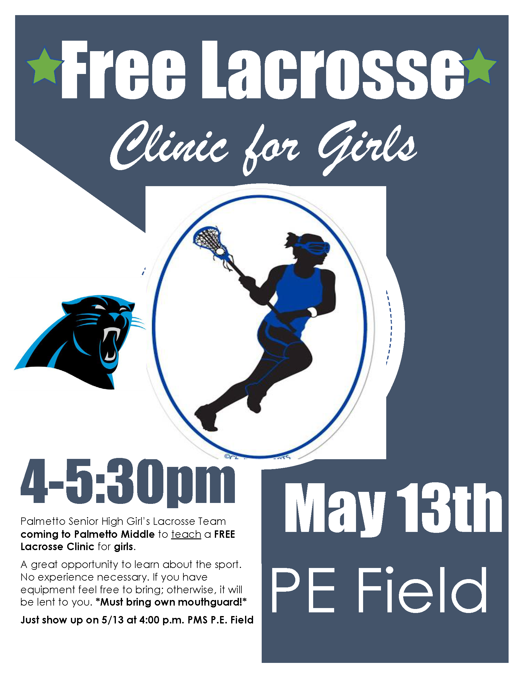 Free Lax Clinic Flyer